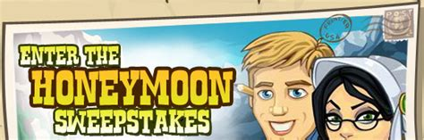 Free Honeymoon Sweepstakes - zynga will give away a getaway in frontierville honeymoon sweepstakes