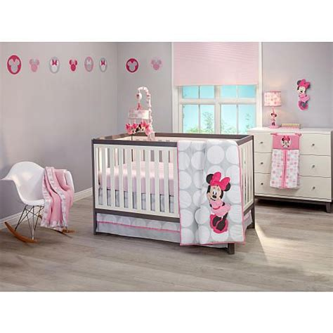 Disney Bedding Sets For Cribs Disney Baby Minnie Mouse Polka Dots 4 Crib Bedding Set Disney Babies R Us And Dust Ruffle