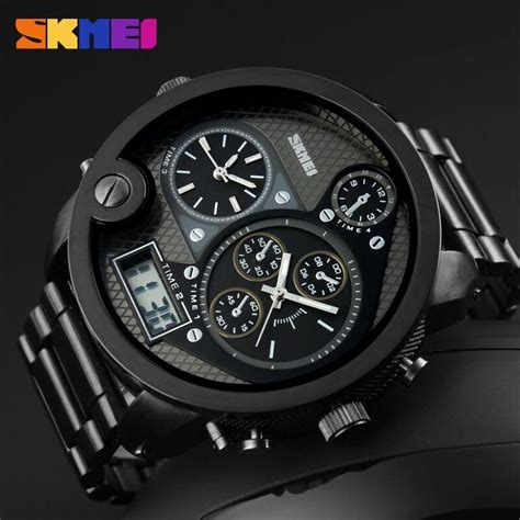 Jam Tangan D Ziner Green Black jam tangan analog besar jam simbok