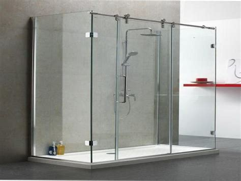 Frameless Shower Door Sliding Frameless Sliding Glass Shower Doors Home Depot Door Stair Design
