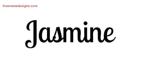 jasmine tattoo font jasmine archives free name designs