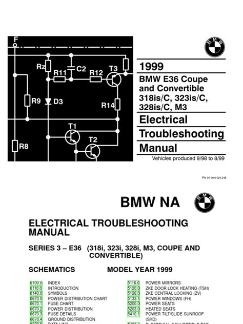 bmw electrical troubleshooting manual e36 1999 bmw 318is c 323is c 328is c m3 electrical troubleshooting manual