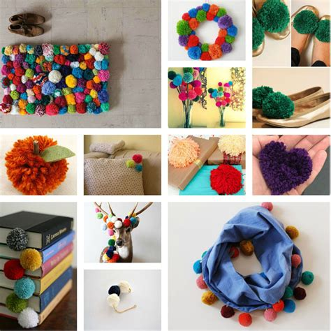 pom pom craft projects pom pom crafts ideas living beautifully