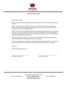 Business Letter Sle New Business New Business Introduction Letter Exles The Letter Sle