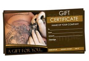 tattoo parlor gift certificate templates easy to use