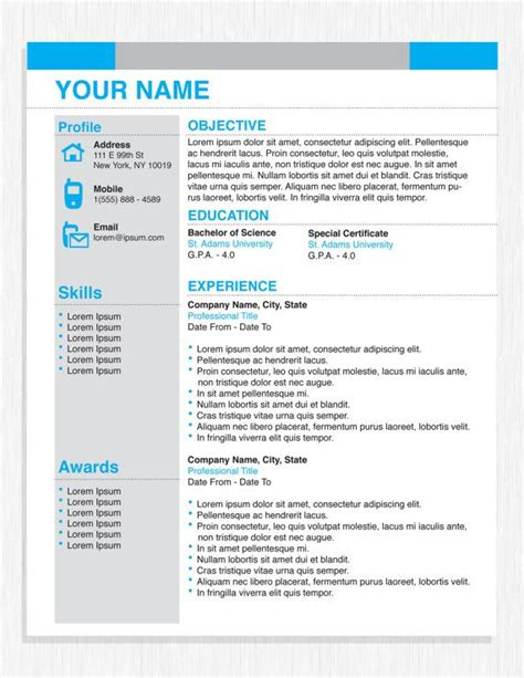 Resume Template For Professional Business Pin By Ingonit On Original Resume Design