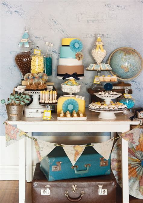 vintage travel decor 35 travel themes for the best birthday parties tip junkie