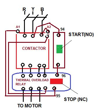 3 phase contactor with start stop wiring diagram get