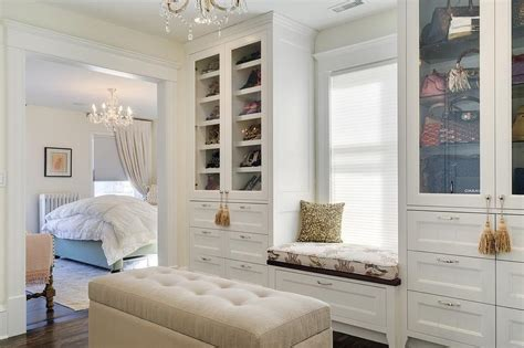 shoe cabinets  glass doors traditional closet