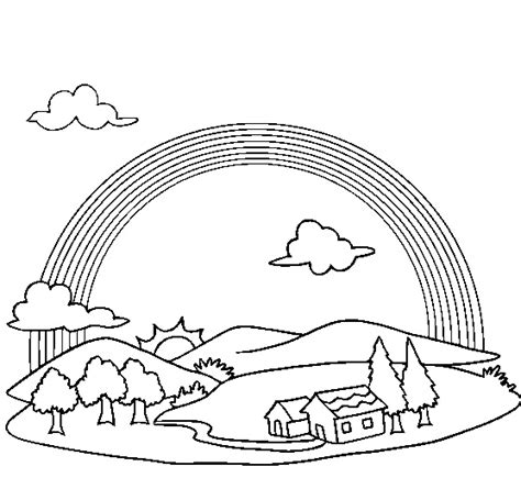 Rainbow Bridge Coloring Page | rainbow bridge page coloring pages