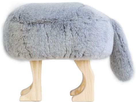 Animal Stool by Four Legged Chair With A Cover And The Animal