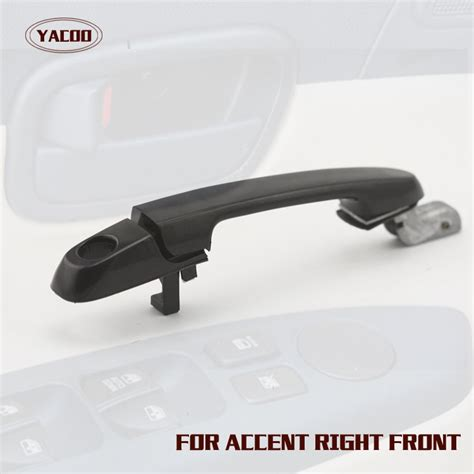 2009 hyundai accent door handle accent door handle front right black outer outside