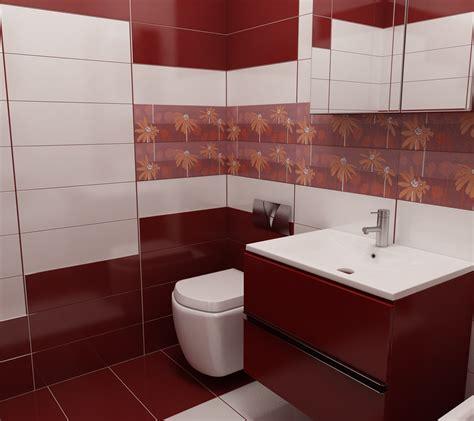Rote Fliesen Bad by Bilder 3d Interieur Badezimmer Rot Wei 223 Val Baie 3