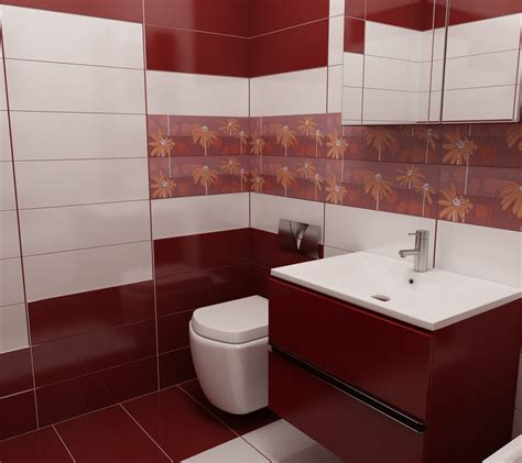 wd badezimmer bilder 3d interieur badezimmer rot wei 223 val baie 3