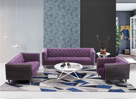 purple living room set bellagio purple fabric living room set lcbe3pu armen living