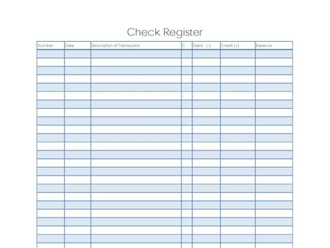 Checkbook Register Template 9 Excel Checkbook Register Templates Excel Templates