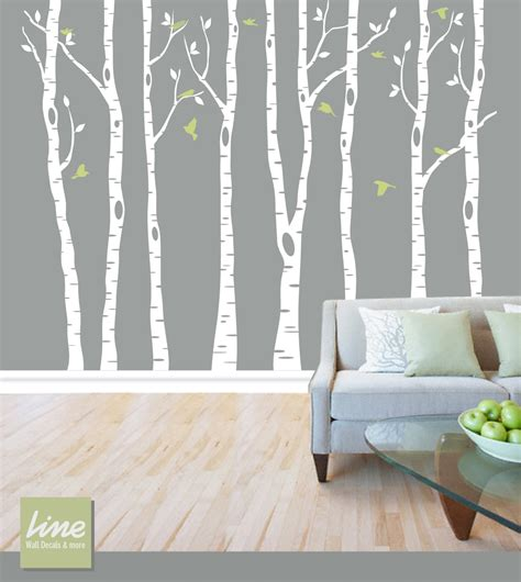 vinyl wall decal forest tree wall birch tree decal forest birch trees birch trees vinyl