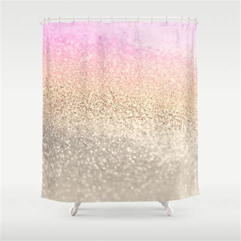 Gold Sparkle Shower Curtain by 1000 Ideas About Pink Shower Curtains On