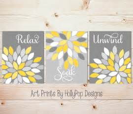 yellow gray wall set of 3 bathroom prints bathroom wall
