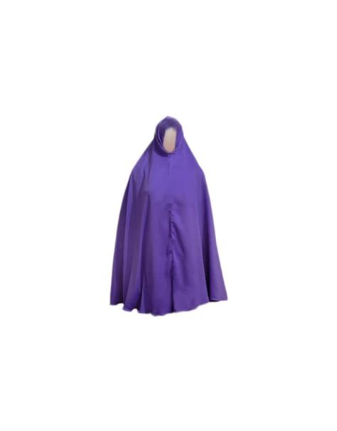 big khimar headscarf in purple style