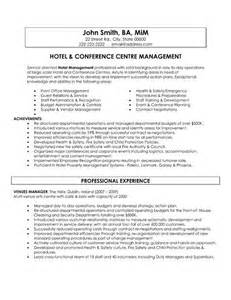 Free Sle Resume For Hotel Industry 17 Best Images About Best Hospitality Resume Templates Sles On Executive Chef
