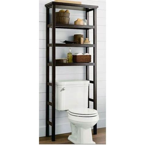 Toilet Shelf by Space Saver The Toilet Rack Brown
