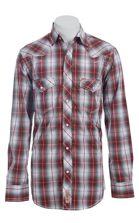 Blouse Motif Kotak 2147 rafter c cowboy collection s l s western snap shirt