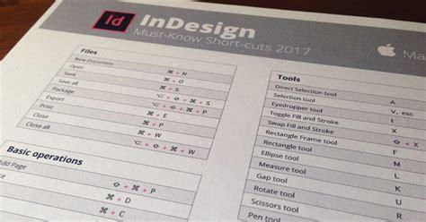 indesign cc shortcuts cheat sheet indesign cc 2018 keyboard shortcuts printable cheat sheet