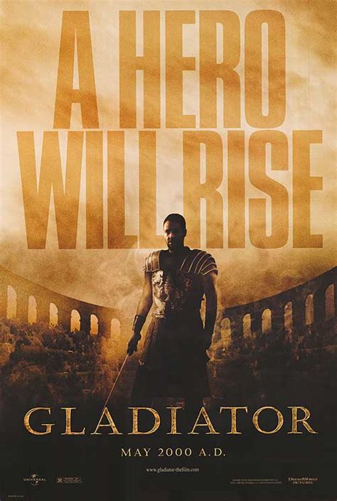 gladiator film history gladiator movie posters at movie poster warehouse