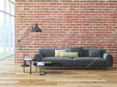 Brique Interieur by Int 233 Rieur Du Loft Avec Mur De Briques Et Table Basse