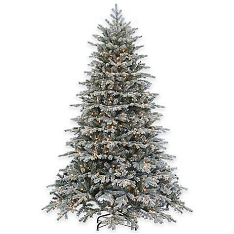 7 5 foot pre lit flocked vermont spruce christmas tree