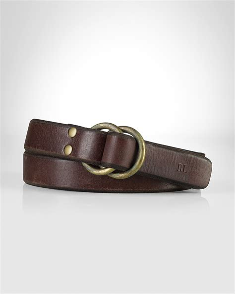 polo ralph leather studded o ring belt bloomingdale s