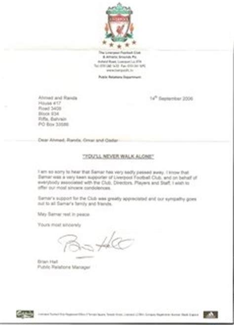 Release Letter From Soccer Club samar al ansari 1988 2006 liverpool football club letter