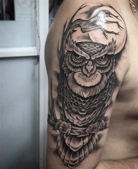 owl tattoo half sleeve picture of half sleeve owl tattoo