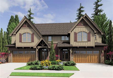 duplex with world style 69567am architectural