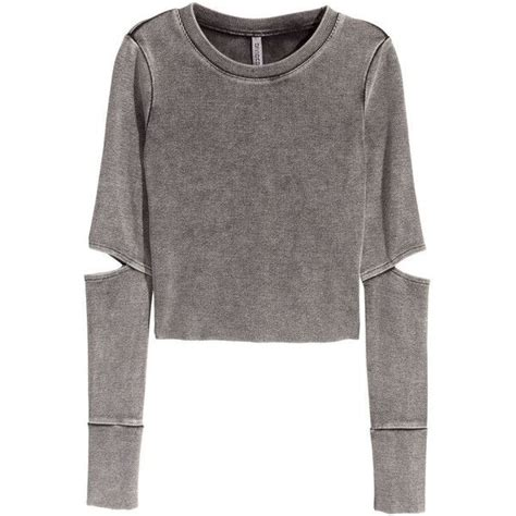 h m jersey crop top 30 cad liked on polyvore featuring