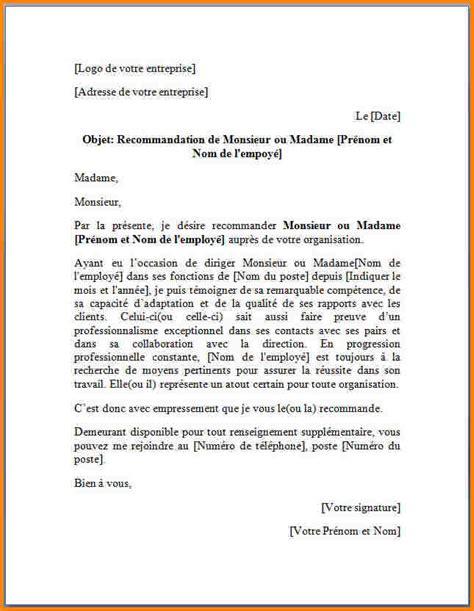 Lettre De Recommandation Employeur Pour Master 9 Lettre De Recommandation Professionnelle Modele Lettre