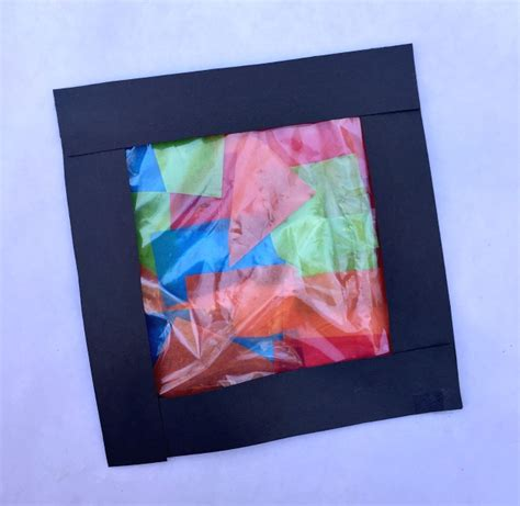 Stained Glass Tissue Paper Craft - tissue paper stained glass craft for family focus
