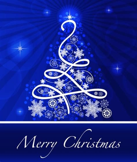 merry christmas blue background  vector    vector  commercial