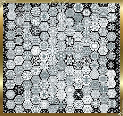 Snowflake Quilting Design by Snowflake Quilting Pattern