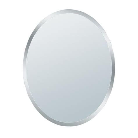 glacier bay 31 in x 21 in small beveled oval mirror 1845