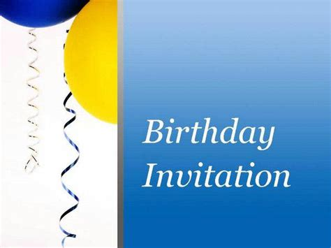 Birthday Invitation Cards Ppt Template Ppt Birthday Card Powerpoint Template