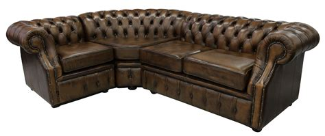 Chesterfield Corner Sofa Chesterfield Graham Corner Sofa Unit 2 C 1 Antique Gold Leather
