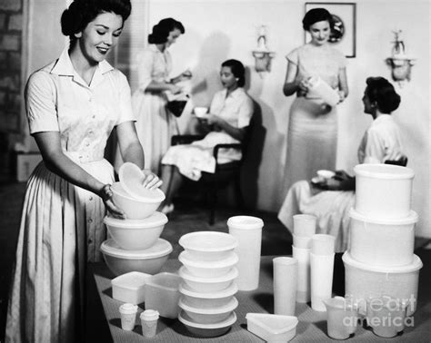 Fifties Home Decor by Tupperware Party 1950s Photograph By Granger