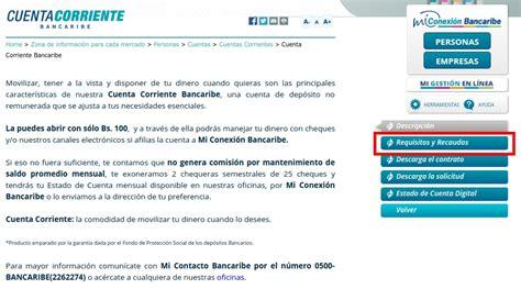 la cuenta corriente cuenta de ahorros planilla para abrir cuenta corriente bancaribe