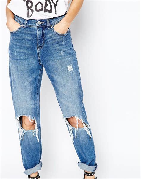 Big Size Celana Pensil Stretch Blueblack Cheap Monday Bigsize destroyed cheap to