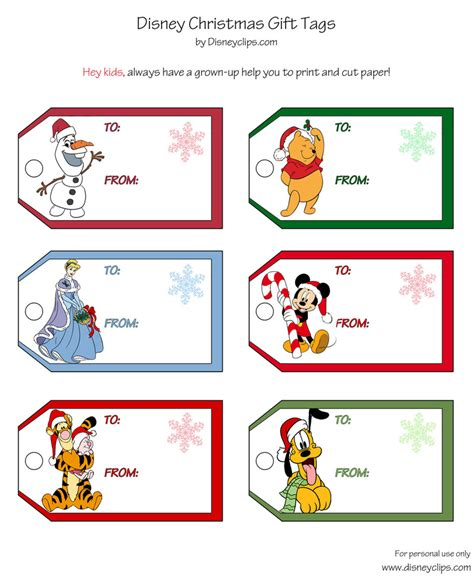printable disney christmas gift tags disney s world of