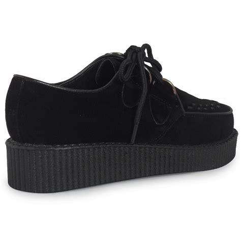 high flat platform shoes womens black lace up suede high platform