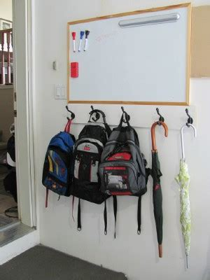ideas for hanging backpacks putting together a backpack station