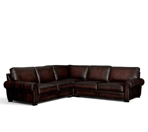 turner roll arm leather sofa turner roll arm leather 3 l shaped sectional